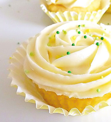 Lemon and Lime Cupcakes with a Fresh Lemon Frosting