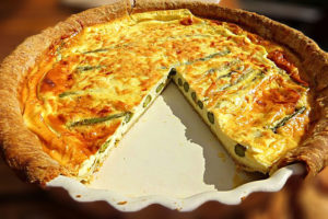 Roasted Asparagus and Ricotta Pie