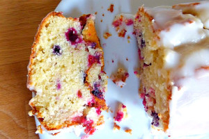 Lemon and Berry Cake with a Tangy Frosting