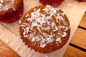 Lighter Coconut and Lime Muffins
