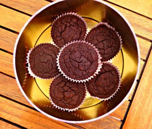 No sugar, gluten free chocolate cupcakes
