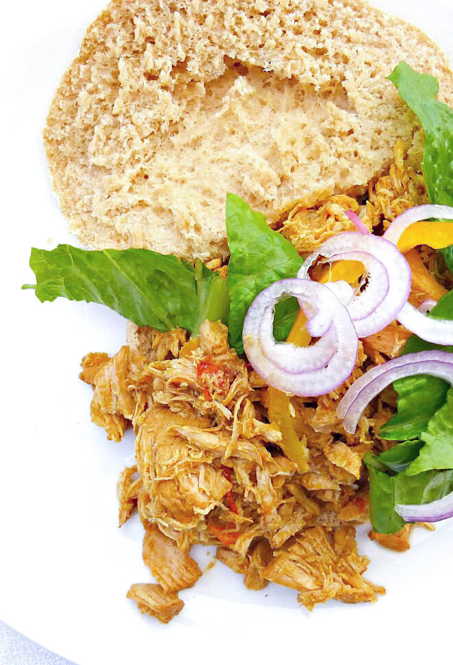 Healthy, Simple Tandoori-inspired Crockpot Pulled Chicken