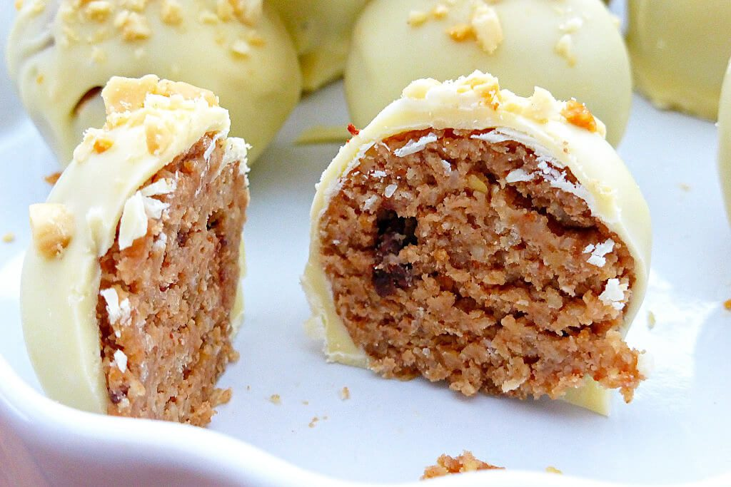 Peanut Butter and White Chocolate Cake Truffles