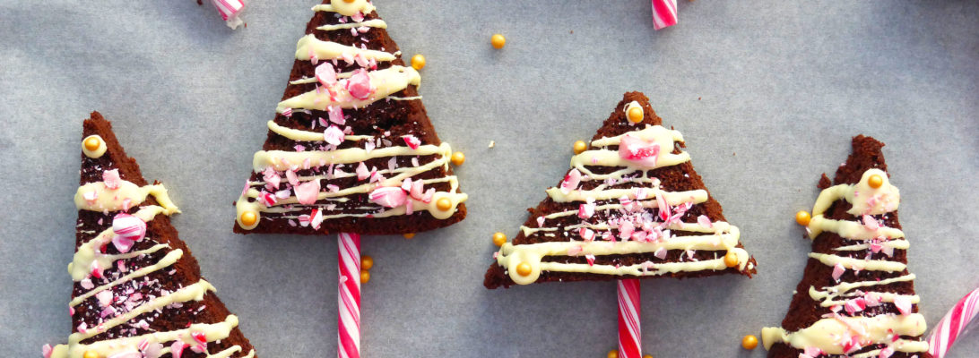 Gluten Free Brownie Christmas Trees