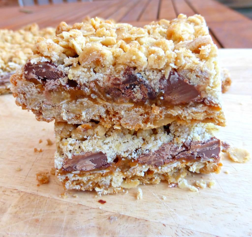 Oat Caramel Chocolate Traybake Squares