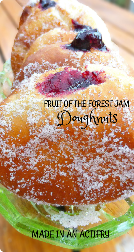 Doughnuts with Homemade Fruit of the Forest Jam