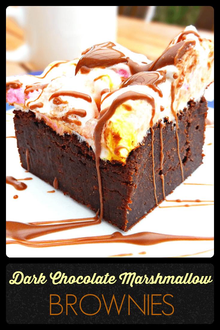Fluffy Marshmallow Dark Chocolate Brownies