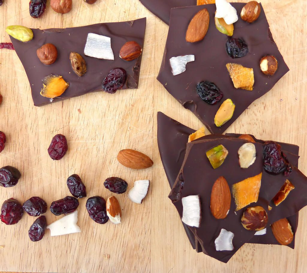Fruit and Nut Dark Chocolate Bark