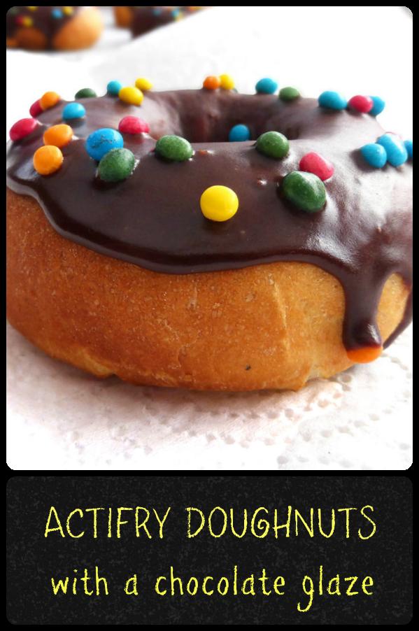 Actifry Chocolate Glazed Doughnuts