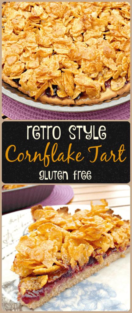 School Dinner Cornflake and Jam Tart (gluten free)