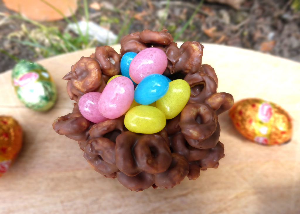 Chocolate Cheerio Easter Nests