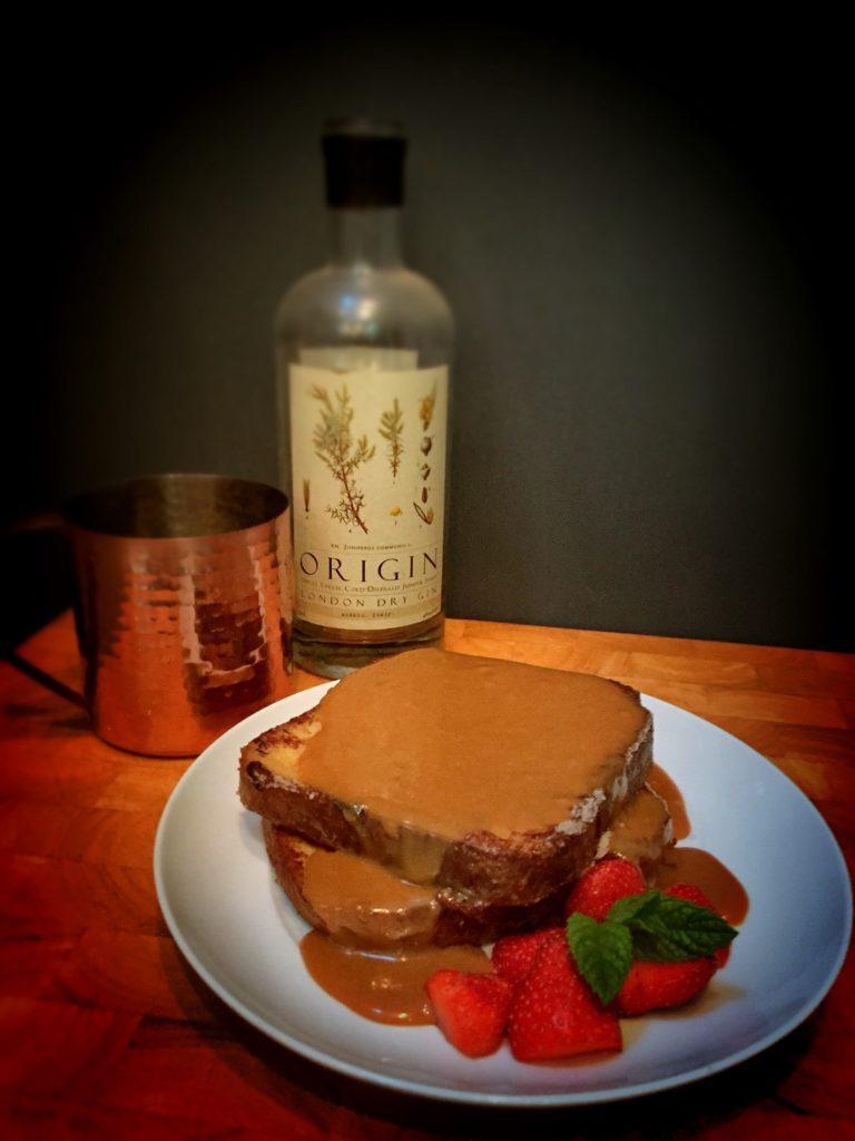Boozy Salted Caramel French Toast
