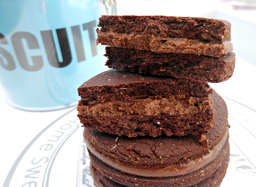 Gluten Free Cookies with a Chocolate Peanut Butter Filling
