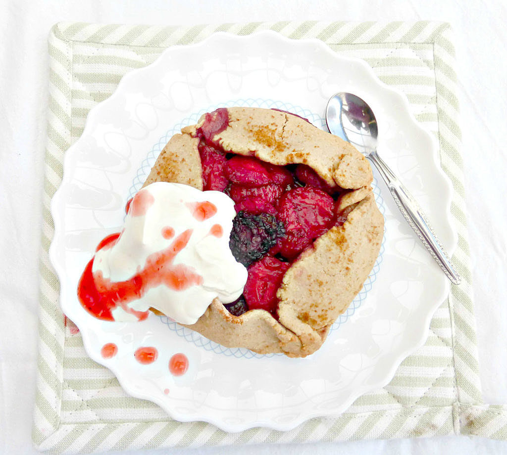 Gluten Free Rustic Individual Strawberry Galettes