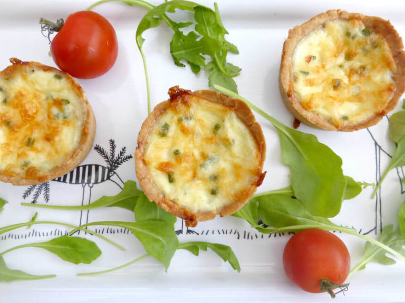 Gluten Free Mini Quiches with Cottage Cheese and Chives