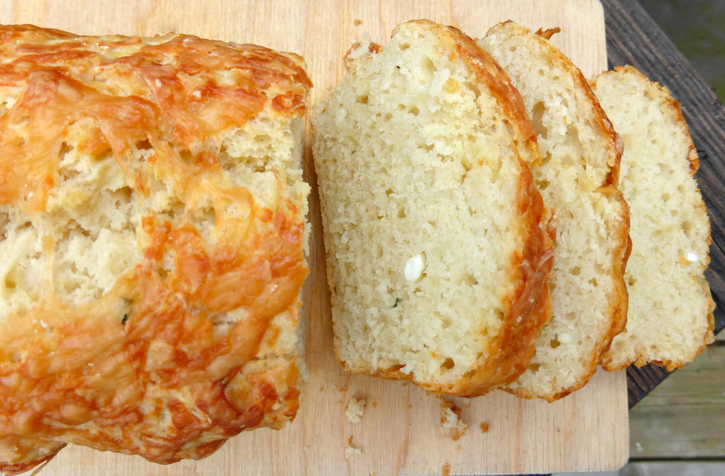 Feta and Chive Quickbread