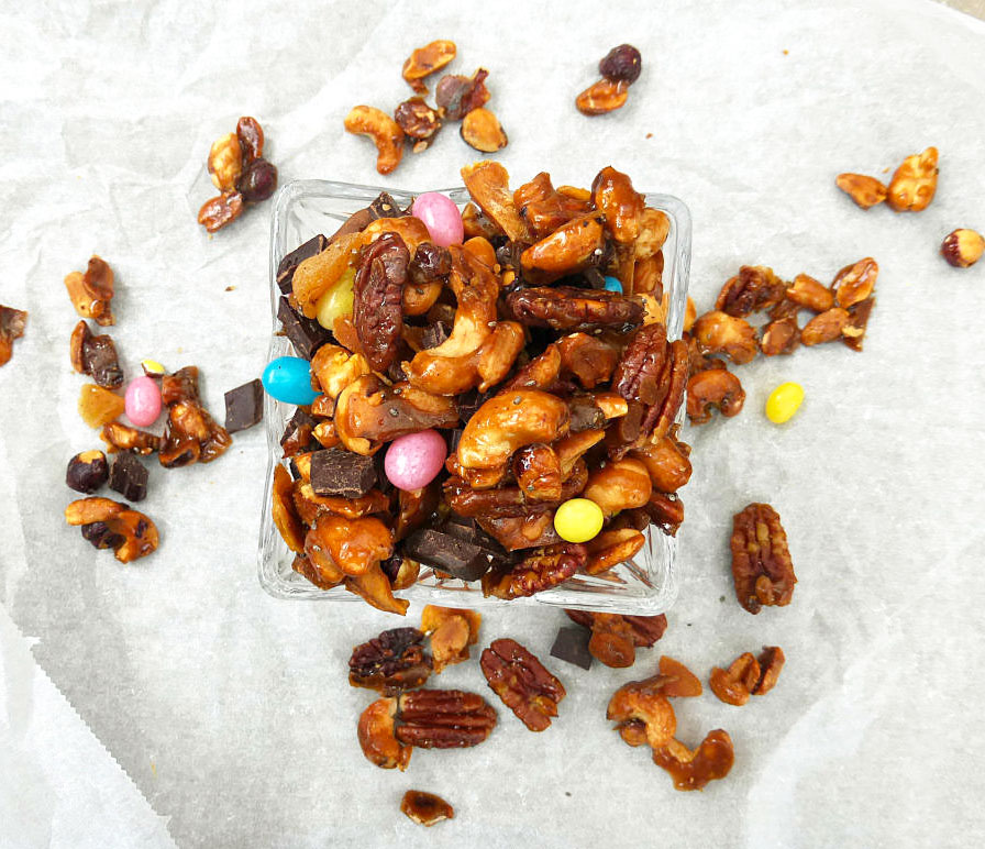 Naughty But Oh So Nice Candied Nut Trail Mix