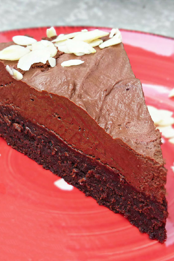 Brownie and Dark Chocolate Mousse Cake