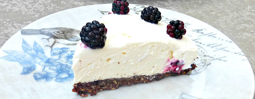 Wild Blackberry and Mascarpone Cream Pie (Gluten Free)
