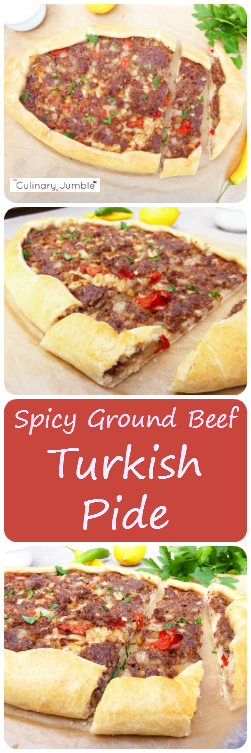 Spicy Turkish Pide with Ground Beef and Chillies