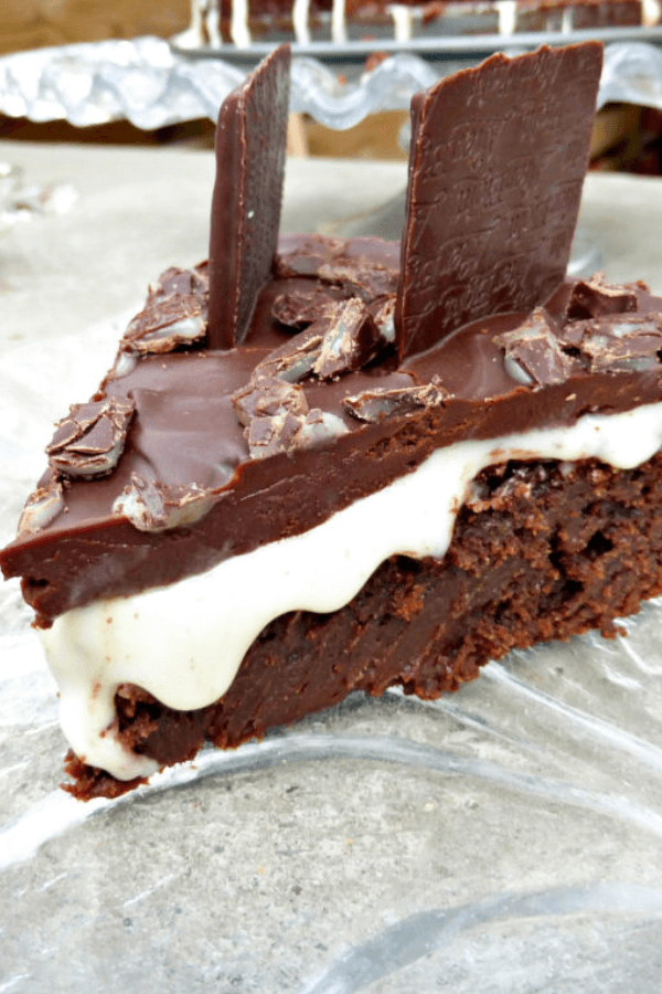 After Eight Mint Fondant Chocolate Brownie