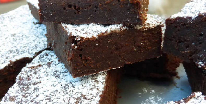 Gingerbread Dark Chocolate Brownies