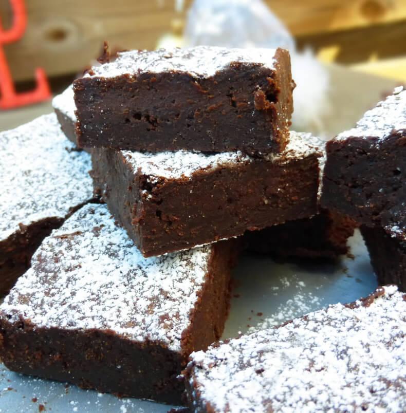 Gingerbread Dark Chocolate Brownies