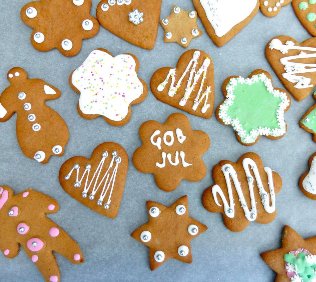 Traditional Swedish Pepparkakor (Gingerbread)