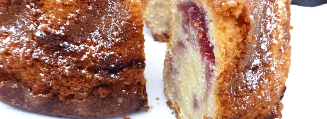 Greek Yoghurt and Berry Swirl Bundt Cake