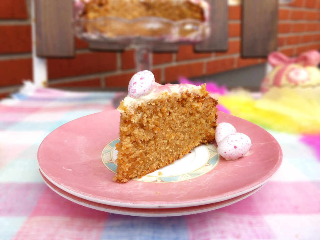 Carrot Cake with a Lemon Cream Cheese Frosting