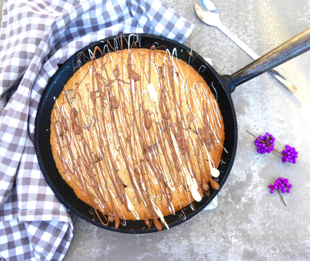 Double Chocolate Chunk Skillet Cookie (Gluten Free)