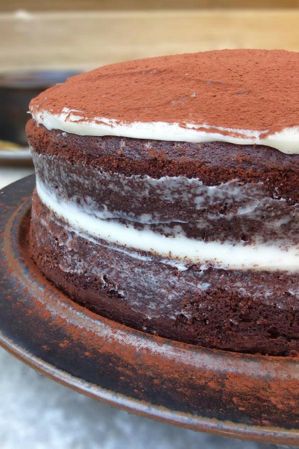 Almost Tiramisu Double Espresso Chocolate Layer Cake