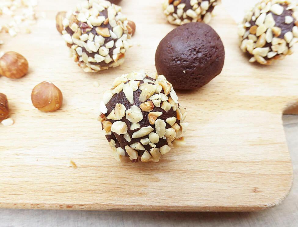 Dark Chocolate Avocado Hazelnut Truffles