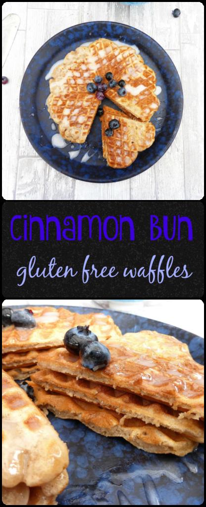 Cinnamon bun gluten free waffles