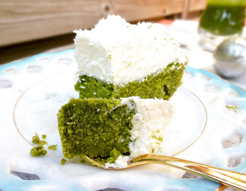 Coconut and Matcha One Layer Cake (gluten free)