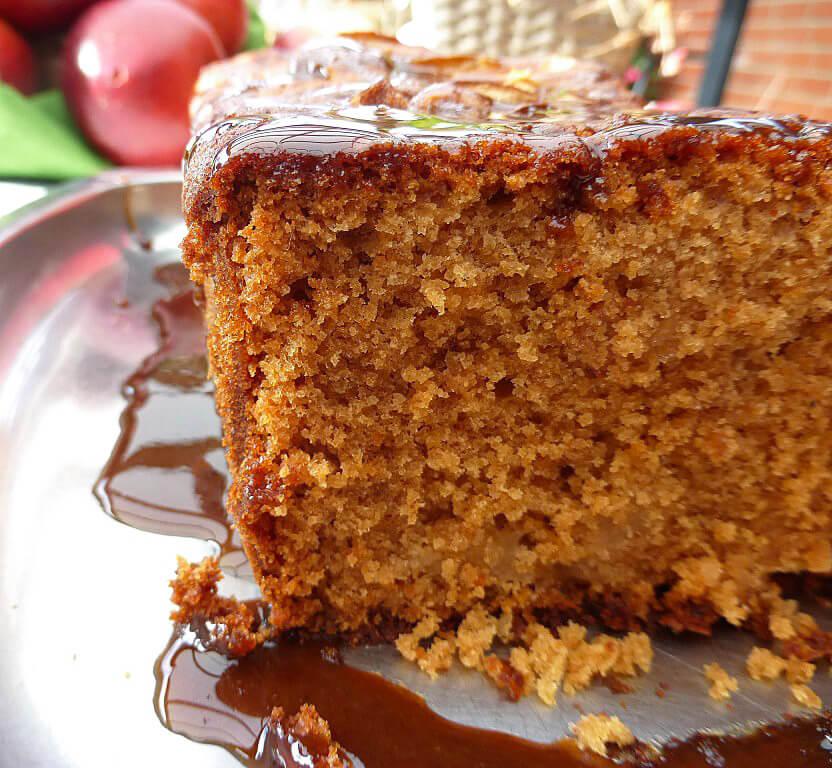 Coconut Sugar Caramel Apple Gingerbread Loaf
