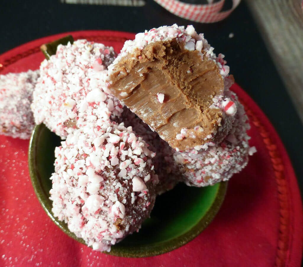 Candy Cane Milk Chocolate Truffles (with just 4 ingredients)
