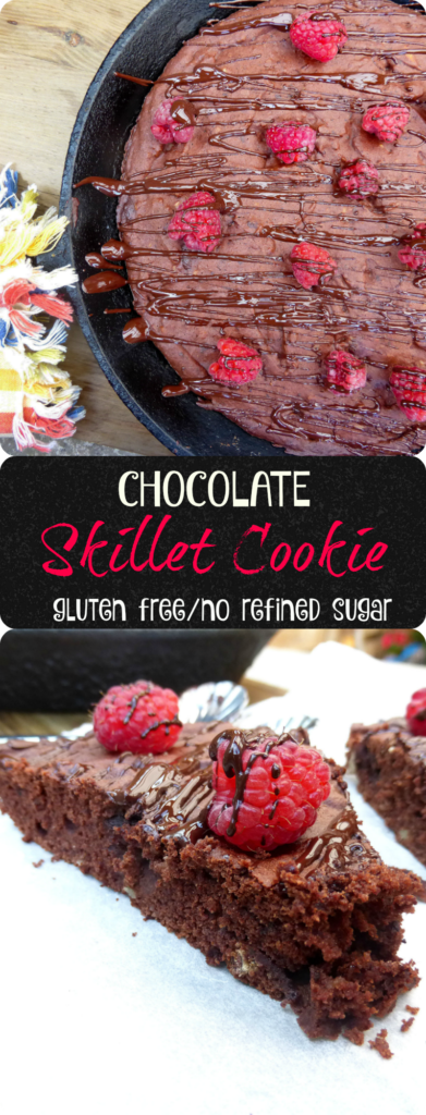 Gluten Free Skillet Cookie (no refined sugar)