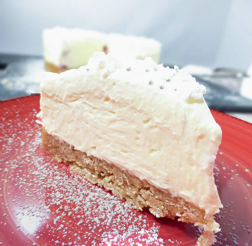 White Chocolate Truffle Cranberry Cheesecake