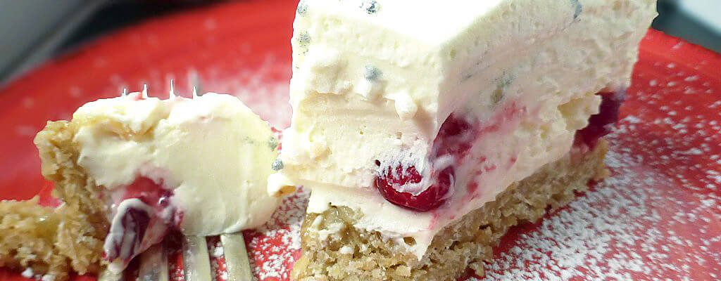 White Chocolate Truffle Cranberry Cheesecake