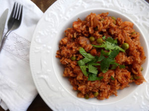 Nice and Spicy Tomato and Prawn Rice (made in the Crockpot)
