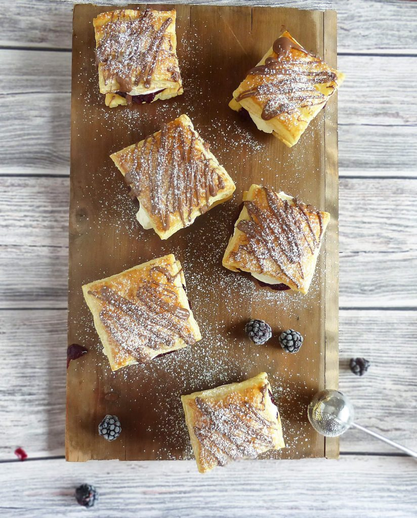 Blackberry and Cream Puff Pastries
