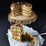 Homemade Butterscotch and Daim Layer Cake with Butterscotch Frosting