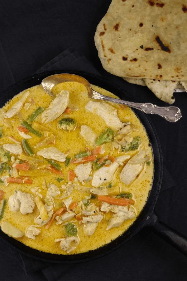 30 Minute Meal: Garlic Coconut Chicken Curry